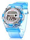 Женские Повседневные часы электронные часы Спортивные часы Кварцевый Цифровой Группа Белый Синий Розовый Фиолетовый