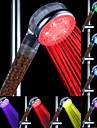 Changement d'écoulement d'eau Power Generation ABS Couleur douche à main LED