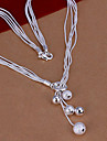 Sweet (Ball) Silver Copper Pendant Necklace(1 Pc)