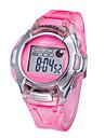 Infantil SYNOKE LEO Dial Digital PU Banda Resistente à água relógio de pulso