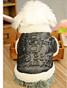 Трехмерная Pattern Теплый Кожа руно пальто для Собаки (разных размеров)