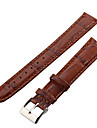 Unisex 18mm Crocodile Grain Leather Watch Band (Brown) Cool Watch Unique Watch Fashion Watch