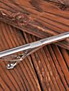 Персональный подарок Мужская серебристого металла с гравировкой заколка для галстука с горный хрусталь