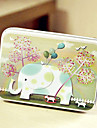 Rectangle Elephant Pattern Tin Box