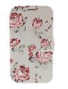 Pequeno Capa de Couro Fresco Floral com suporte para Samsung Galaxy Note N7100 2