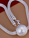Sweet Silver Copper Chain Necklace (1 Pc)