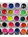 30-Color Pearlescent & Shimmer Glitter Colors Nail Art UV Builder Gel for Manicure Nails Tips