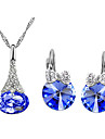 Jewelry Set Crystal Party Daily Casual Crystal Austria Crystal Alloy Earrings Necklaces