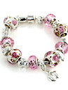 pulseira rosa vertente cristal de 6,3 centímetros doces mulheres (1 pc)