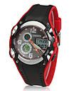 Men's Analog-Digital Multi-Function Black Rubber Band Sporty Wrist Watch