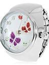 Женские Модные часы Кварцевый сплав Группа Бабочка Серебристый металл