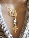 Сладкий (Лист Подвеска) Многоцветный сплава ожерелье (золото, серебро) (1 шт)