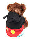 Dog Coat / Hoodie Black Dog Clothes Winter Cosplay / Halloween