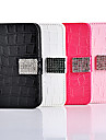 Elegant Solid Color Diamond Button Full Body Case for iPhone 4/4S