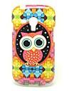 Colorful Owl Pattern IMD TPU Craft para Samsung Galaxy S3 Mini I8190