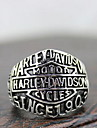 """Punk Silver Alloy """"Harley Motor"""" Men's  Statement Rings(1 Pc)"""