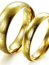 Classic Lovers Stainless Steel Band Rings Gold Couple Rings Movie Jewelry(2 Pcs)