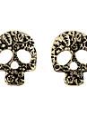 Gothiques Boucles bronze Boucles d'oreilles en alliage de crâne (1 paire)