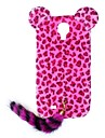 HW Leopard Print Pattern protection en plastique avec la queue pour Galaxy S4 i9500 (couleurs assorties)