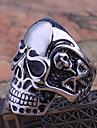 미스 rose® 티타늄 스틸 두개골 남자의 반지
