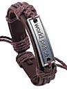 z&mundo X® logotipo da paz pulseira de couro wrap 24 centímetros para homens (1 pc)