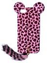 New Edition Leopard Print Pattern protection en plastique avec la queue pour l'iPhone 5/5S (couleurs assorties)
