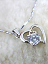 Eruner®Classic 925 Sterling Silver Crystal Pendant Necklace