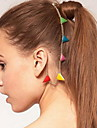 Ethnic Multicolor Triangle Shape Gold Alloy Hair Combs For Women(Multicolor,Gold)(1 Pc)