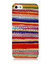 iPhone4/4S를위한 국가 작풍 다채로운 선 패턴 실리콘 소프트 케이스