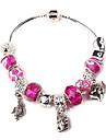 Rose Beads Charm Bracelet for women European Style Handmade beaded bracelets