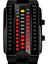 SKMEI Homens Relogio de Pulso Relogio de Moda Digital Calendario Impermeavel LED Lega Banda Luxo Preta Prata