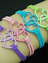 leather Charm Bracelets Shixin® European Heart 18cm Women's Multicolor Leather Wrap Bracelet inspirational bracelets(1 Pc)