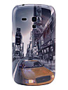 Car On The Street Building Pattern Hard Back Cover Case for Samsung Galaxy S3 Mini I8190