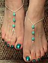 shixin® cru trois zircons alliage nus sandale (or, argent, bronze) (1 pc)
