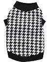 Chat Chien Tee-shirt Vetements pour Chien Noir/Blanc Coton Costume Pour les animaux domestiques