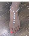 Горячие моды прозрачный Имитация Перл форме сердца Босиком сандалии * 1шт