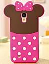 Прекрасный розовый бантом 3D кремния телефона чехол для Samsung Galaxy S4 i9500