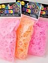 baoguang®600pcs couleur arc-en-saveur de fraise métier à tisser la mode bande de caoutchouc (le clip de 1package, couleurs assorties)
