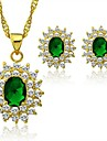 Fashion Party Golden African Jewelry Set 18K Gold Plated with CZ Crystal Vintage Jewelry
