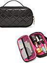 Portátil High End Black Diamond PU Clutch Bag Cosméticos Maquiagem Storage Bag