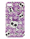 Lovely Skulls Pattern Hard Case for iPhone 4 and 4S (Multi-Color)