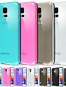 케이스 제품 Samsung Galaxy 삼성 갤럭시 케이스 반투명 뒷면 커버 한 색상 TPU 용 S5