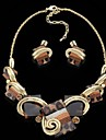 Leopard Brown Alloy (Necklaces&Earrings) Gemstone Jewelry Sets