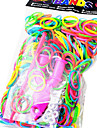 Rainbow Colorful Loom Style Material Rubber Band(600 Pcs Bands+24 Pcs C Or S Clips+1 Loom+1 Hook)