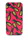 Pink Background Pineapple Pattern Hard Case for iPhone 4/4S iPhone Cases