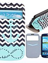 The Waves Ships Anchor Pattern PU Leather Full Body Case with Card Slot for Samsung Galaxy S3 I9300