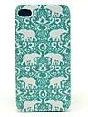 Dure de cas modèle d'éléphant de fleur tapis pour iPhone 4/4S
