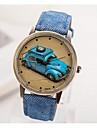 여성용 손목 시계 패션 시계 석영 캐쥬얼 시계 PU 밴드 빈티지 블랙