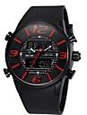 Men's Sport Watch Quartz Japanese Quartz LCD Calendar Chronograph Water Resistant / Water Proof Dual Time Zones Alarm Rubber Band Black