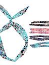(1 шт) Сладкий Многоцветный Ткань ободки для женщин (случайный цвет)